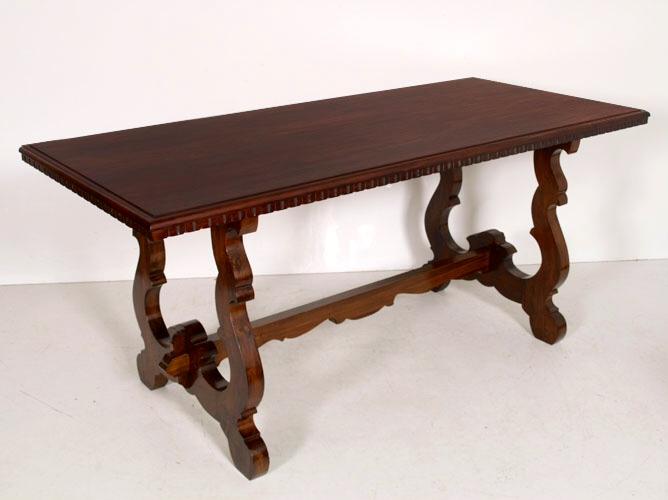 Realizzazione tavolo moderno riciclo di un tavolo rustico - Tavolo fratino moderno ...