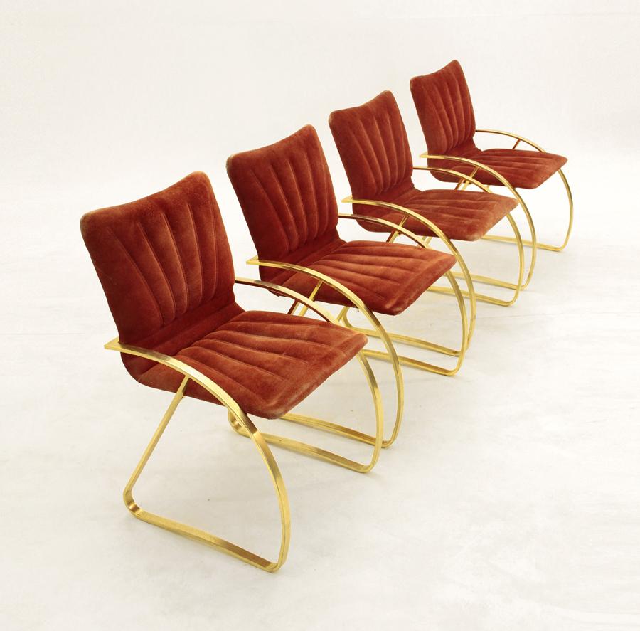 4 sedie anni 80 nello stile di Romeo Rega - Uso Interno