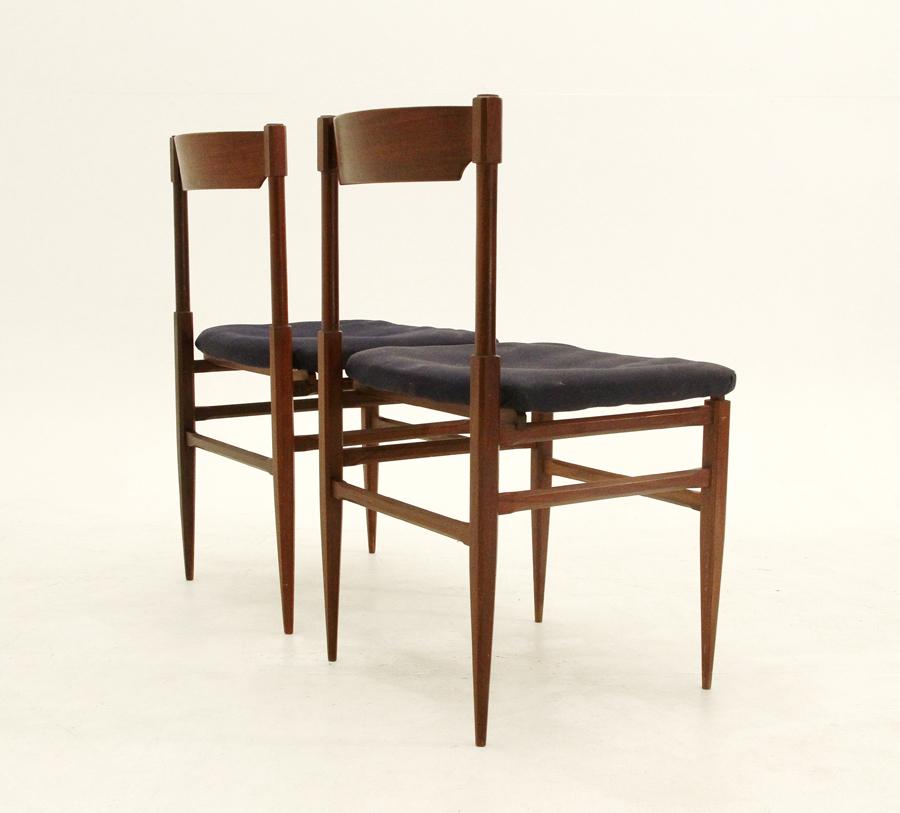 Coppia sedie anni 39 60 italian design teak vintage chairs for Sedie italian design