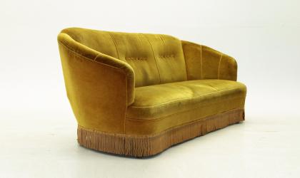 Divano curvo anni 50 nello stile di Gio Ponti, Ico Parisi, canapè ...