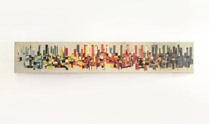 Grosso quadro rettangolare di Nanni De Marco datato 1960
