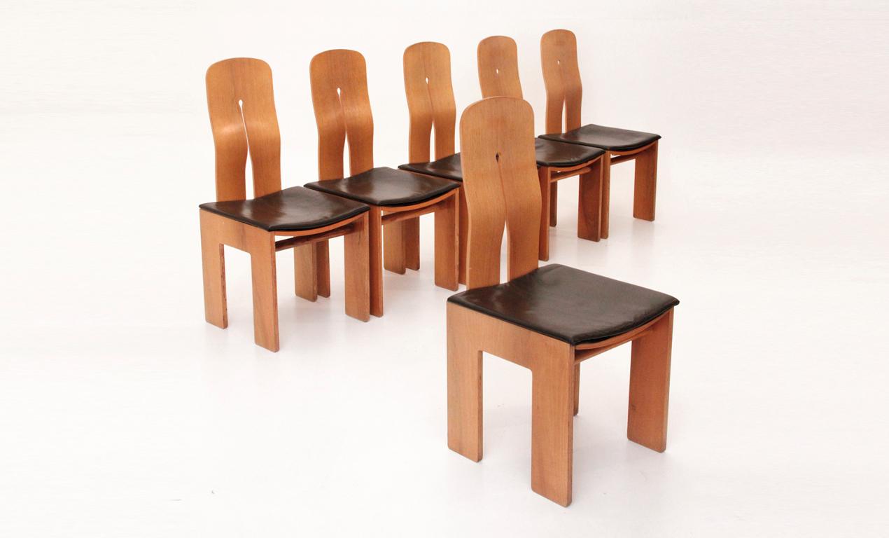 Set di 6 sedie 1934 765 di carlo scarpa per bernini 1977 for Sedie italian design