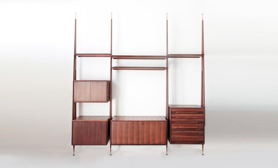 Grande libreria in palissandro galleria mobili d 39 arte cant uso interno - Gambe mobili anni 50 ...