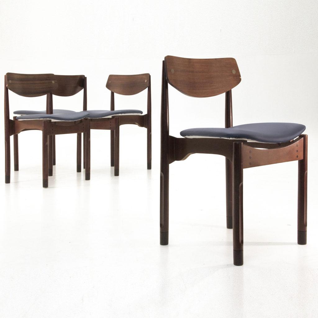 Set Di 4 Sedie In Palissandro Stile Danese Anni 39 50 Uso