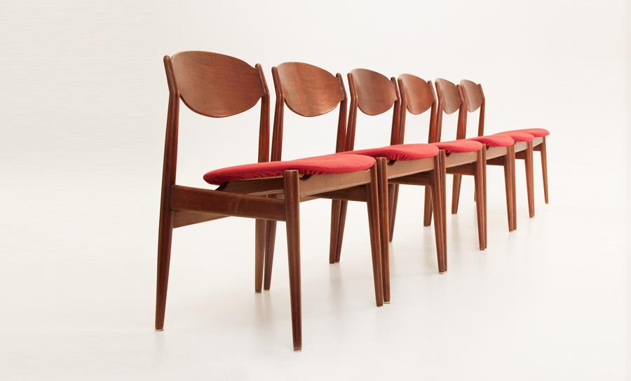 Sedie In Legno Anni 50 60.Set Di 6 Sedie In Legno Isa Bergamo In Stile Danese Anni 60 Uso