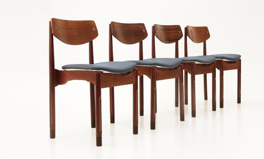 Set di 4 sedie in palissandro stile danese anni 39 50 uso for Sedie design danese