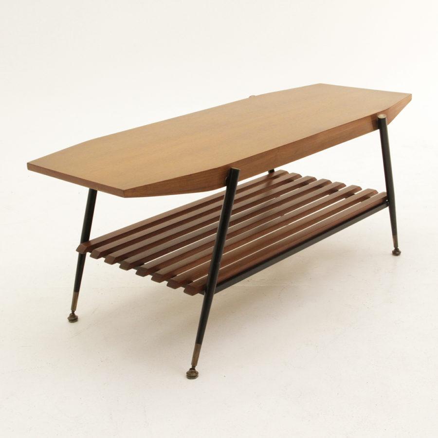 Tavolino da caff anni 60 in teak coffee table 50s 60s for Tavolino anni 60 design