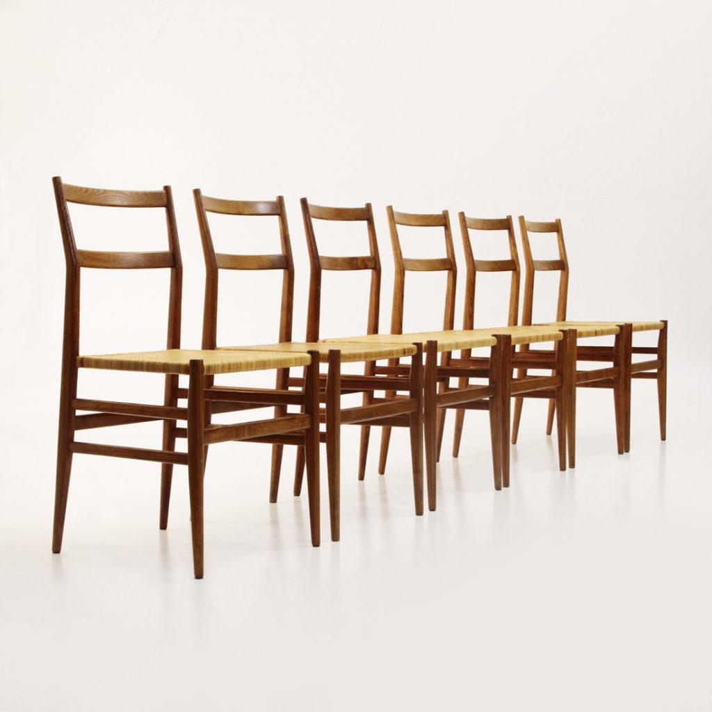 Sei sedie leggera design gio ponti per cassina uso interno for Sedie gio ponti