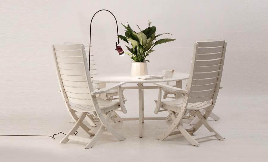 Tavolo da pranzo e sedie da giardino anni 39 50 reguitti for Reguitti mobili da giardino