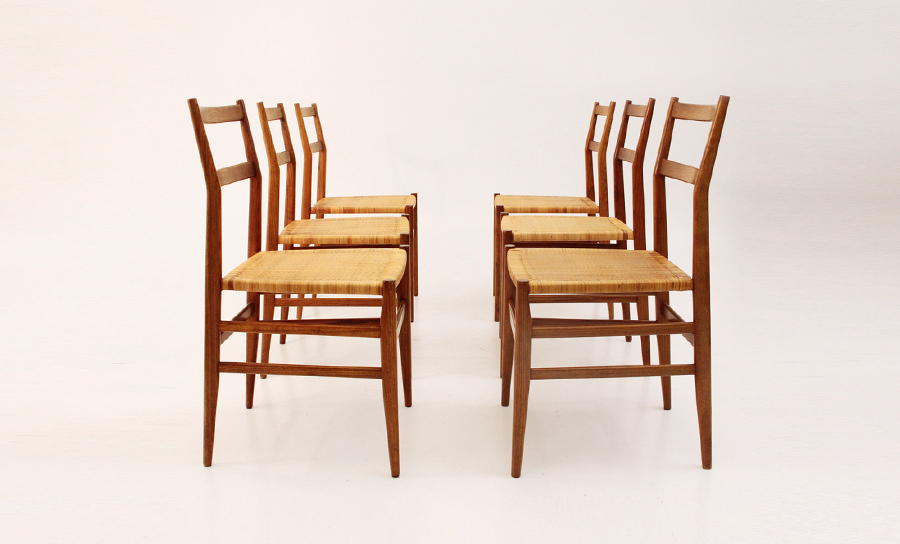 Sei sedie leggera design gio ponti per cassina uso interno - Sedia leggera gio ponti ...