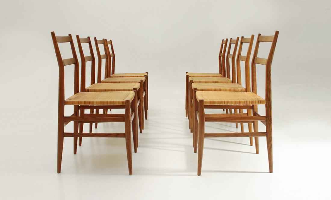 Otto sedie leggera modello 646 di gio ponti per cassina - Sedia leggera gio ponti ...