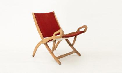 Sdraio Ninfea, Giò Ponti per Reguitti anni '50, folding chair, mid century modern italian design