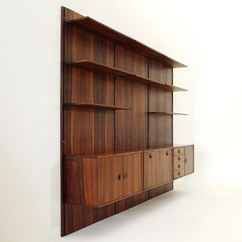 Libreria modulare in palissandro uso interno for Libreria modulare