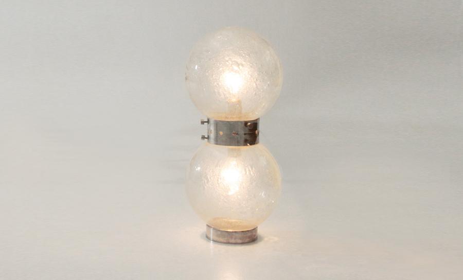 Lampade In Vetro Anni 70 : Lampada da tavolo monoluce in vetro con sfera anni abat jour
