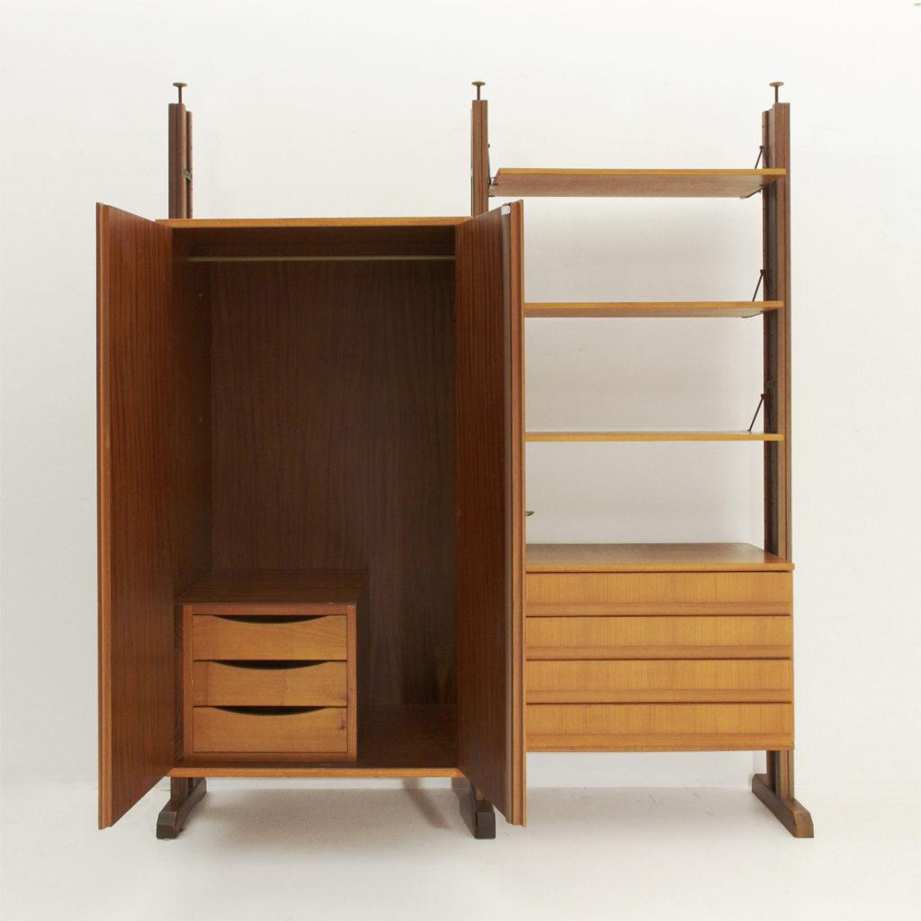 Armadio libreria con montanti in legno uso interno - Reguitti mobili ...