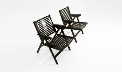 Coppia di sedie pieghevoli Rex di Niko Kralj per Stol anni 50, mid century folding chair, 50s, modern, design, historical