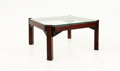 Tavolino in palissandro e vetro anni 60, mid century coffee table, side, italian design, rosewood, ico parisi, gianfranco frattini, 60s
