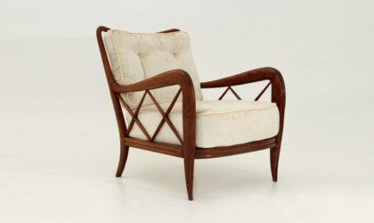 Sedia Art decò in velluto anni 30, mid century armchair, paolo buffa style, mario quarti, italian design modern, 50's, 30's