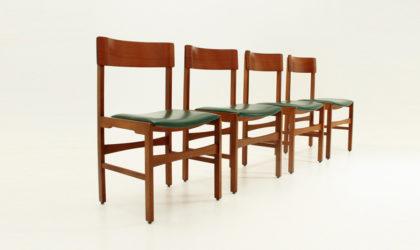 Quattro sedie con schienale curvo anni 60, mid century armchairs, italian design modern, plywood