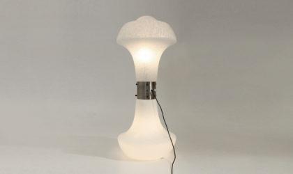 Piantana in vetro di Murano, Carlo Nason anni 70, murano glass table lamp, mid