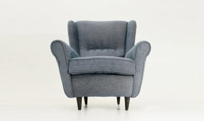 Poltrona con piedi conici anni 50, mid century armchair, italian modern design, 50's, paolo buffa, vintage
