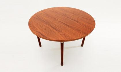 Tavolo rotondo di Georges Coslin per 3V arredamenti anni 60, dining table, mid century modern, gianfranco frattini, italian modern design, 60's