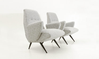 Coppia di poltrone di Nino Zoncada per Framar anni '50, mid century armchairs, italian modern design, 50's, motonave