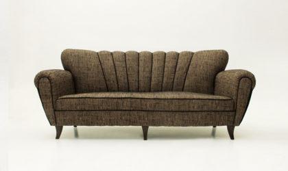 Divano tre posti anni '50, mid century sofa, 50's, vintage, italian modern, three seats, ulrich, buffa, ponti