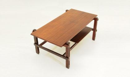 Tavolino rettangolare in teak anni '60, mid century coffee table, italian modern, 60's, ico parisi, brass, vintage