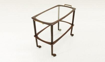 Carrello portavivande con vassoio anni '50, mid century cart, italian modern, brass, cesare lacca, ico parisi, 50's, ottone