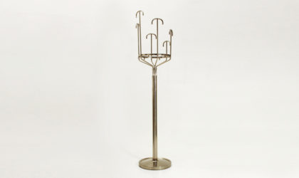 Appendiabiti Melpomene di BBPR per Artemide anni '70, coat hanger chromed, mid century italian modern, 70's, design, masterwork
