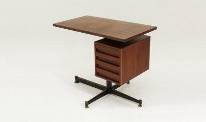 Scrivania in teak con cassettiera anni '50, mid century desk, 50's, italian modern, franco albini, ico parisi, schirolli, mim