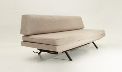 Divano letto Relaxy anni '60, mid Century sofa bed, italian design modern, Arlfex, zanuso, Sleep-o-matic, brass, ottone