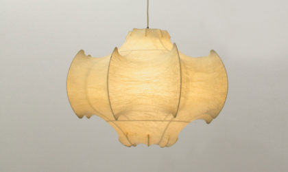 Lampadario Viscontea di Achille e Pier Giacomo Castiglioni per Flos anni 60, mid century pendant lamp, lampada soffitto, cocoon, italian design modern