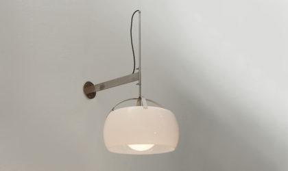 Applique Omega di Vico Magistretti per Artemide anni '60, mid century applique, sconce, 60's, wall lamp, italian design modern