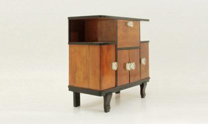 Mobile bar art decò anni '30, cabinet, maniglie in vetro, glass handle, mid century modern, 30's, decoration, italian