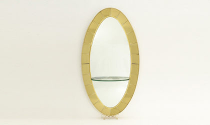 Specchiera con mensola modello 2690 di Cristal Art anni '50, mid century mirror console, consolle, italian design, shelf,