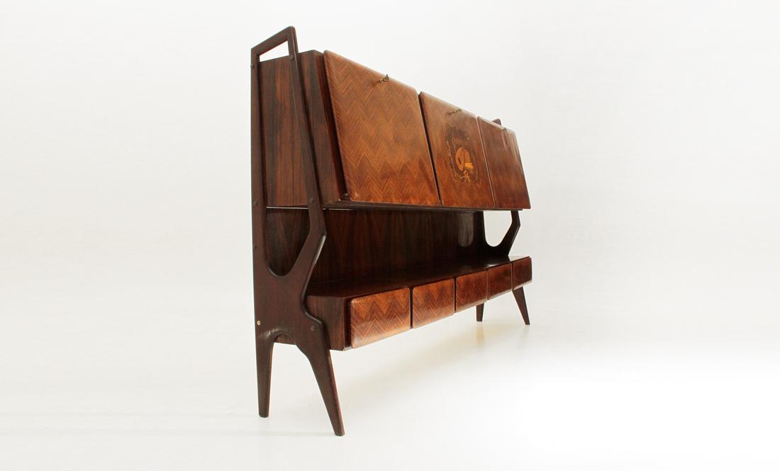 Credenza Con Bar : Credenza con mobile bar anni mid century sideboard cabinet