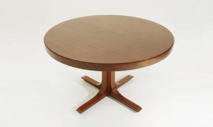 tavolo allungabile modello SP 209 di Giovanni Ausenda per Stilwood, anni 60, palissandro, rosewood, mid century modern dining table, italian design, 60's