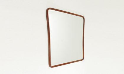 Specchio con cornice in legno anni '50, mid century mirror, wooden frame, art decò, italian modern design, 50's, 40's, paolo buffa, gio ponti