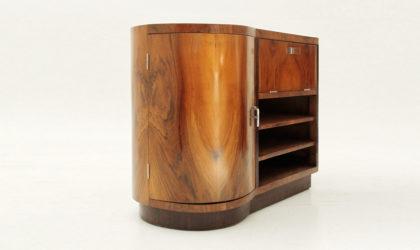Piccola Credenza razionalista anni 30, modernist sideboard, art decò, 30's, italian design, briar, brown, wood, legno, mobiletto
