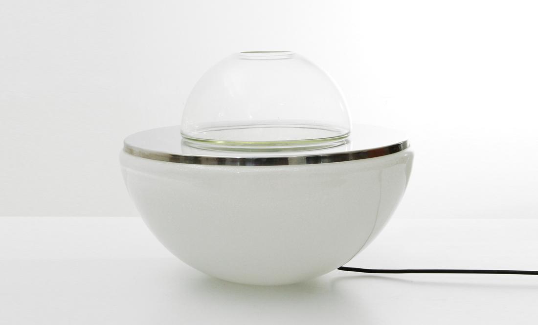 Lampade In Vetro Anni 70 : Lampada in vetro porta fiori lt237 di carlo nason per mazzega anni