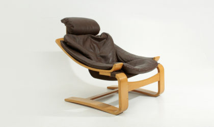 Poltrona Kroken di Ake Fribyter per Nelo anni '70 in pelle, armchair, leather, 70's, mid century modern, swedish, design,