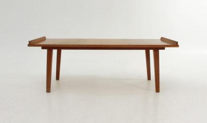 Tavolino in legno anni '50, mid century coffee table, 50's, italian design, vintage, teak, wood, modern, modernist