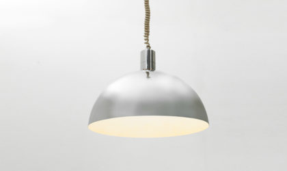Lampadario cromato AM-AS di Franco Albini per Sirrah anni 60', pendant lamp chromed, 60s,70s,70, mid century modern italian design