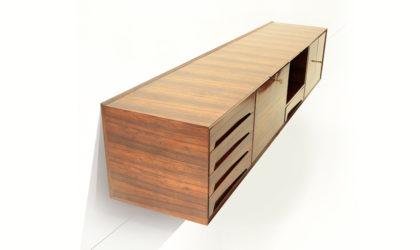 Credenza sospesa a muro Dassi anni '50, mid century suspended sideboard, italian modern design, 50's, teak, gio ponti, wall,