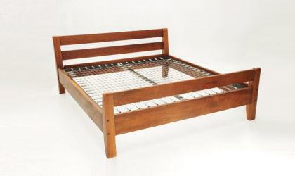 Letto matrimoniale Bernini anni '60, mid century bed, vintage, wood, legno, 60's, joe colombo, gianfranco frattini, carlo scarpa, italian design