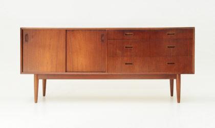 Credenza in Teak anni '60, mid century sideboard, 60's, vintage, Swedish design, nordic, italian modern, solid, 50s, brown,