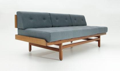 Divano tre posti di Umberto Brandigi per Poltronova anni '60, mid century sofa, italian design, 60's, wood, bed, vintage, nordic, letto