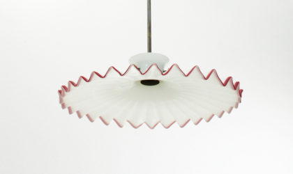 Lampadario Pinocchio di Ludovico Diaz de Santillana per Venini anni '70, mid century pendant lamp, murano glass, 70's, italian modern design